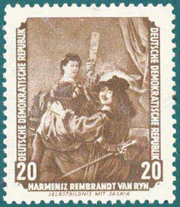 DDR (1955) Rembrandt. Scott # 275
