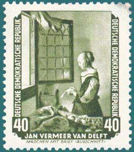 DDR (1955) Vermeer. Scott # 276