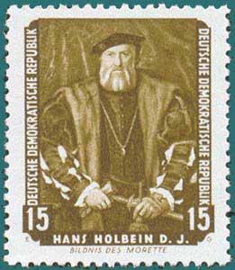 DDR (1957) Holbein. Scott # 357