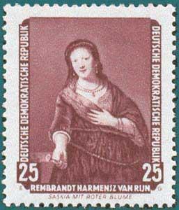 DDR (1957) Rembrandt. Scott # 359