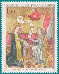 1970-Sc 1273-Primitif Painter of Savoy (15e) 'Annuniciation'