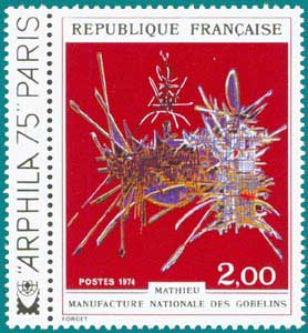 1974-Sc 1397-Tapestry by Georges Mathieu, 'In Honor of Nicolas Fouquet -ARPHILA 75