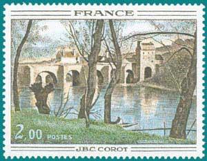 1977-Sc 1517-J.-B.C. Corot (1796-1875), 'Mantes Bridge'