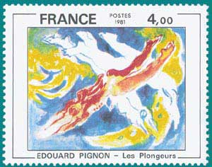1981-Sc 1773-Edouard Pignon (1905-1993), 'The Divers'