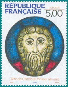 1990-Sc 2210-Head of Christ, Wissembourg